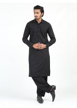Shahzeb Saeed Wash N Wear Formal Kameez Shalwar for Men - BLACK SK-243