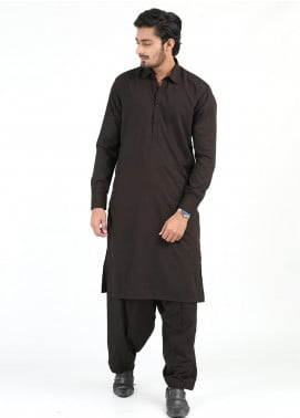 Shahzeb Saeed Wash N Wear Formal Kameez Shalwar for Men - DARK BROWN SK-245
