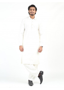 Shahzeb Saeed Wash N Wear Formal Kameez Shalwar for Men - CREAM SK-246
