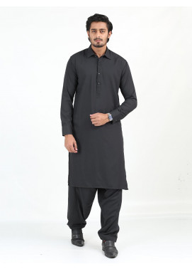 Shahzeb Saeed Wash N Wear Formal Men Kameez Shalwar - CHARCOAL GREY SK-247
