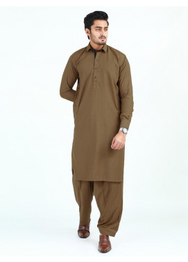 Shahzeb Saeed Wash N Wear Formal Men Kameez Shalwar - COPPER  SK-250
