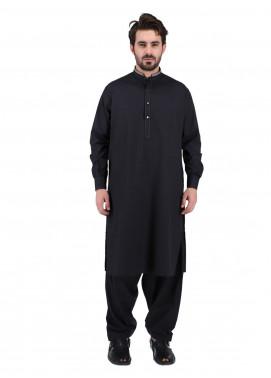 Shahzeb Saeed Wash N Wear Formal Kameez Shalwar for Men - BLACK SK-270