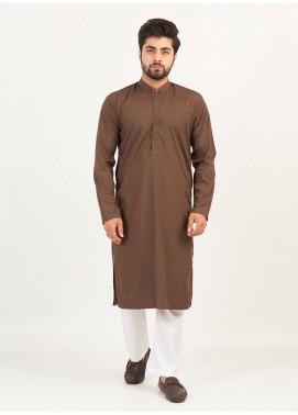 Shahzeb Saeed Wash N Wear Formal Kurta for Men - DARK BROWN Kurta-134