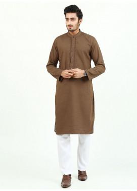 Shahzeb Saeed Wash N Wear Formal Men Kurta - BROWN  Kurta-144