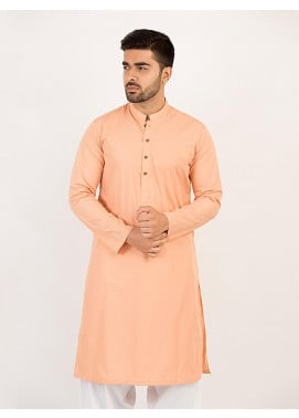 Shahzeb Saeed Wash N Wear Formal Kurta for Men - PEACH KURTA-108
