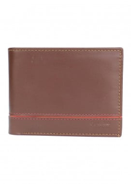 Shahzeb Saeed Plain Texture Leather  Wallet W-063 - Men's Accessories