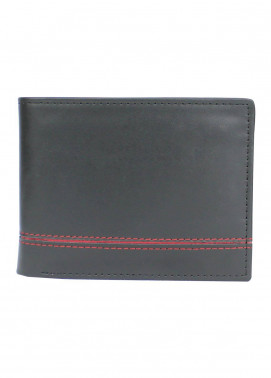 Shahzeb Saeed Plain Texture Leather  Wallet W-064 - Men's Accessories