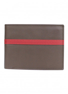 Shahzeb Saeed Plain Texture Leather  Wallet W-080 - Men's Accessories