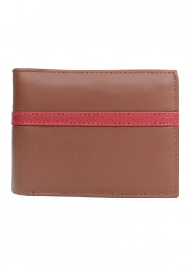 Shahzeb Saeed Plain Texture Leather  Wallet W-081 - Men's Accessories