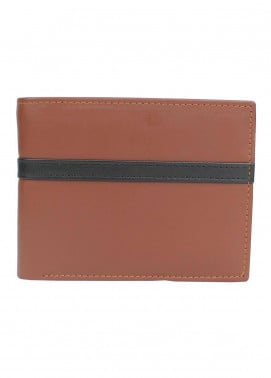 Shahzeb Saeed Plain Texture Leather  Wallet W-082 - Men's Accessories
