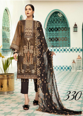 Shaista Embroidered Missouri Unstitched 3 Piece Suit SHT20LM 330 - Luxury Collection