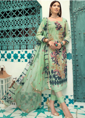 Shaista Embroidered Missouri Unstitched 3 Piece Suit SHT20LM 333 - Luxury Collection