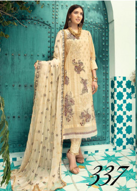 Shaista Embroidered Missouri Unstitched 3 Piece Suit SHT20LM 337 - Luxury Collection