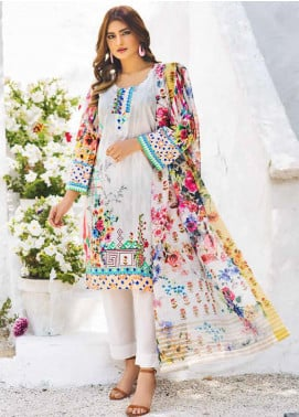Shajar by Rashid Textiles Printed Lawn Unstitched 3 Piece Suit RD20S 1975 - Spring / Summer Collection