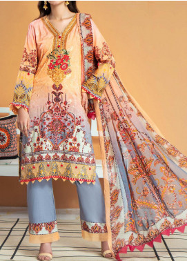 Shamira by Mohagni Embroidered Linen Unstitched 3 Piece Suit MO20SH 03 - Winter Collection