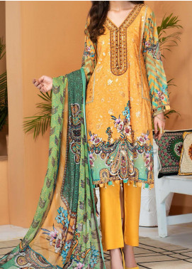 Shamira by Mohagni Embroidered Linen Unstitched 3 Piece Suit MO20SH 07 - Winter Collection
