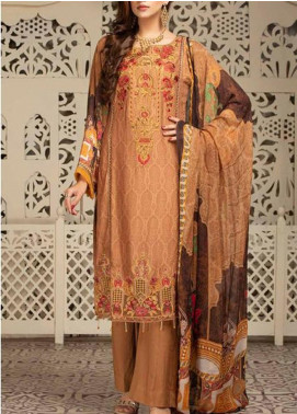 Shamira by Mohagni Embroidered Linen Unstitched 3 Piece Suit MO20-SH2 06 - Winter Collection