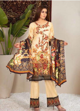 Shamira Embroidered Khaddar Unstitched 3 Piece Suit SHR19PK 10 - Winter Collection