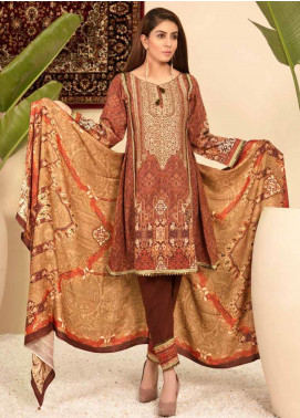 Shamira Embroidered Khaddar Unstitched 3 Piece Suit SHR19PK 3 - Winter Collection