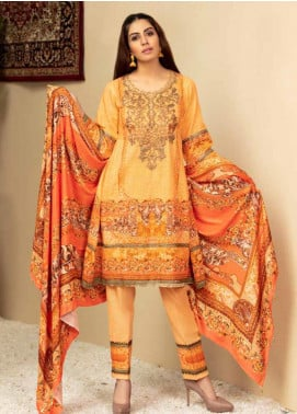 Shamira Embroidered Khaddar Unstitched 3 Piece Suit SHR19PK 6 - Winter Collection