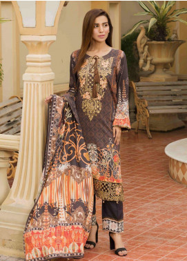 Shamira Embroidered Linen Unstitched 3 Piece Suit SHR19L 02 - Winter Collection