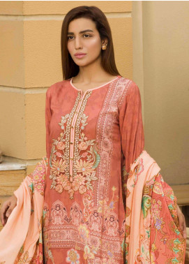 Shamira Embroidered Linen Unstitched 3 Piece Suit SHR19L 08 - Winter Collection