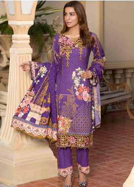 Shamira Embroidered Linen Unstitched 3 Piece Suit SHR19L 09 - Winter Collection