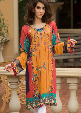 Shamira Printed Linen Unstitched Kurties SHR19LN 05 - Winter Collection