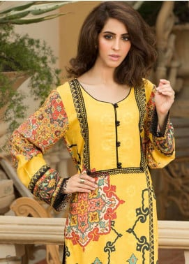 Shamira Printed Linen Unstitched Kurties SHR19LN 07 - Winter Collection