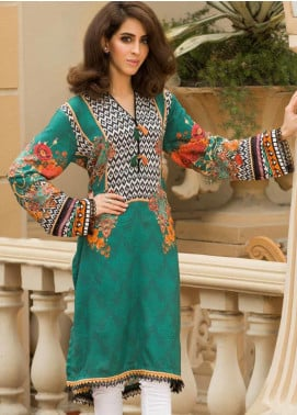 Shamira Printed Linen Unstitched Kurties SHR19LN 10 - Winter Collection