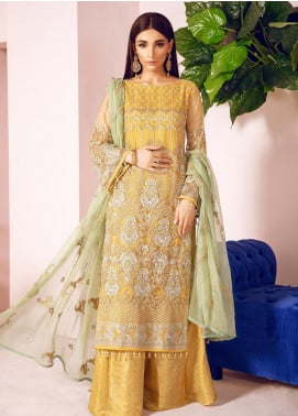 Shamrock by Maryum N Maria Embroidered Net Unstitched 3 Piece Suit SMM19N 03 - Luxury Collection
