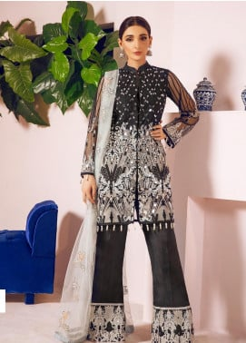Shamrock by Maryum N Maria Embroidered Net Unstitched 3 Piece Suit SMM19N 04 - Luxury Collection
