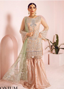Shamrock by Maryum N Maria Embroidered Net Unstitched 3 Piece Suit SMM19N 05 - Luxury Collection