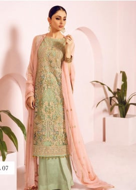 Shamrock by Maryum N Maria Embroidered Net Unstitched 3 Piece Suit SMM19N 06 - Luxury Collection
