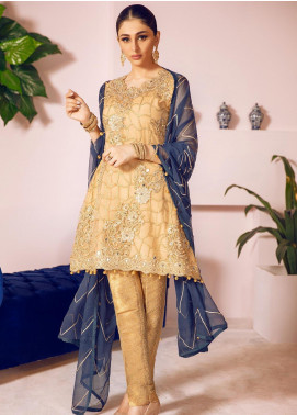 Shamrock by Maryum N Maria Embroidered Net Unstitched 3 Piece Suit SMM19N 07 - Luxury Collection
