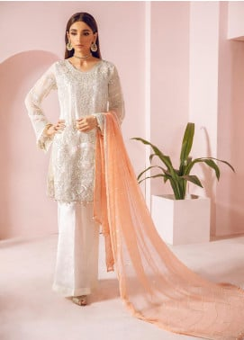 Shamrock by Maryum N Maria Embroidered Chiffon Unstitched 3 Piece Suit SMM19N 08 - Luxury Collection