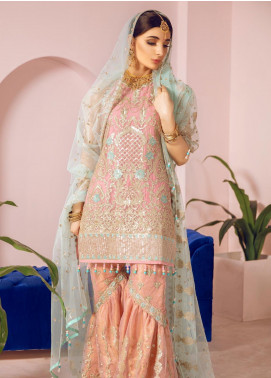Shamrock by Maryum N Maria Embroidered Chiffon Unstitched 3 Piece Suit SMM19N 10 - Luxury Collection