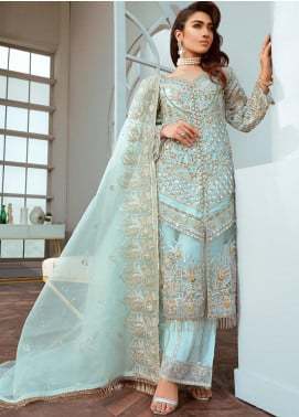 Shamrock by Maryum N Maria Embroidered Net Unstitched 3 Piece Suit SMM20C 01 Lush Charms - Luxury Collection