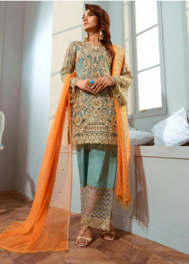 Shamrock by Maryum N Maria Embroidered Net Unstitched 3 Piece Suit SMM20C 03 Perles Tales - Luxury Collection