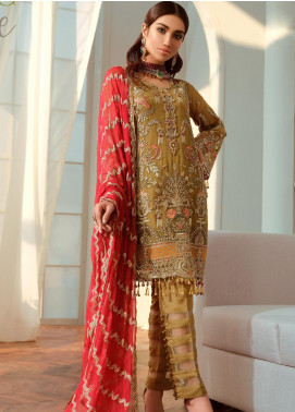 Shamrock by Maryum N Maria Embroidered Chiffon Unstitched 3 Piece Suit SMM20C 05 Mistic Love - Luxury Collection
