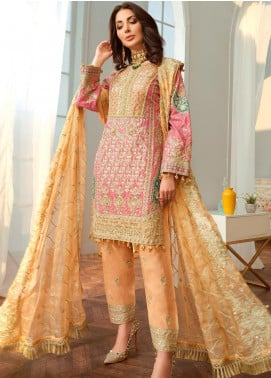 Shamrock by Maryum N Maria Embroidered Missouri Unstitched 3 Piece Suit SMM20C 06 Lumina Blue - Luxury Collection