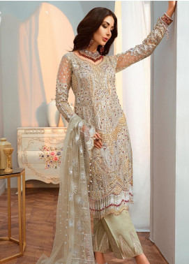 Shamrock by Maryum N Maria Embroidered Net Unstitched 3 Piece Suit SMM20C 08 Amethyst - Luxury Collection
