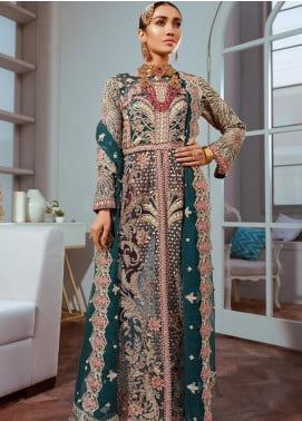 Shamrock by Maryum N Maria Embroidered Chiffon Unstitched 3 Piece Suit SMM20C 09 - Luxury Collection