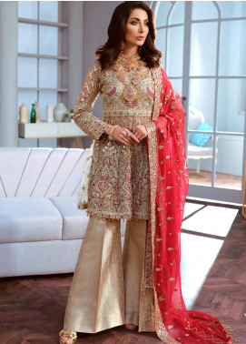 Shamrock by Maryum N Maria Embroidered Net Unstitched 3 Piece Suit SMM20C 10 Damask Charms - Luxury Collection
