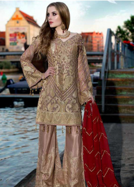 Shamrock by Maryum N Maria Embroidered Chiffon Unstitched 3 Piece Suit SMM19W 02 - Wedding Collection