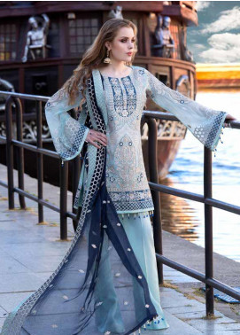 Shamrock by Maryum N Maria Embroidered Chiffon Unstitched 3 Piece Suit SMM19W 04 - Wedding Collection