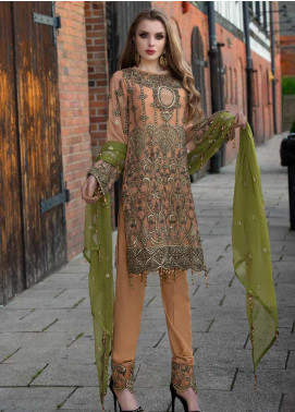 Shamrock by Maryum N Maria Embroidered Missouri Unstitched 3 Piece Suit SMM19W 07 - Wedding Collection