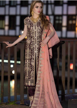 Shamrock by Maryum N Maria Embroidered Chiffon Unstitched 3 Piece Suit SMM19W 08 - Wedding Collection
