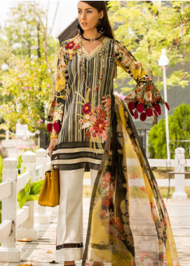 Shanaya by Saadia Asad Embroidered Lawn Unstitched 3 Piece Suit SSA19L 03 - Spring / Summer Collection