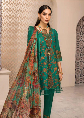 Shanaya by Saadia Asad Embroidered Lawn Unstitched 3 Piece Suit SSA19F 01 - Festive Collection